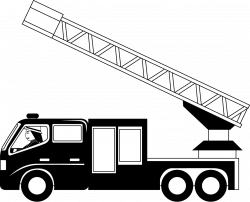 28+ Collection of Fire Truck Clipart Black And White | High quality ...