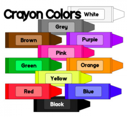 Crayon Colors - Clip Art - FREEBIE - Color Words by Starla Wilson