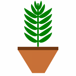 POTTED PLANT- Leaves only-3-color-with-space-on-pot Icons PNG - Free ...