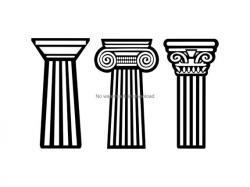 Pillar Svg, Pillar Clipart, Pillar Cutting File, Pillar Digital Download,  Pillar Clip Art Svg, Pillar Vinyl Image File Svg Dxf Png