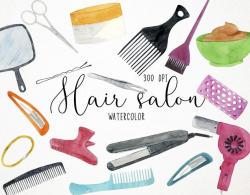 Salon Clipart, Beauty Clipart, Hair Salon Clipart, Hair Salon Clip Art,  Beauty Salon Clipart, Hair Clipart, Hairdresser Clipart Comb Clipart
