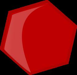 Hexagon Red Clip Art at Clker.com - vector clip art online, royalty ...