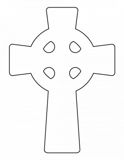 Celtic cross pattern. Use the printable outline for crafts, creating ...