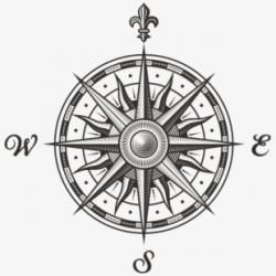 Compass Clipart Scout Map - Rosa De Los Vientos Scout ...