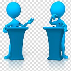 Two person talking illustration, Animation Debate Stick ...