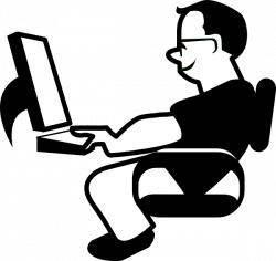 Image of IT Computer Clipart Black and White #10668, Clip Art Using ...