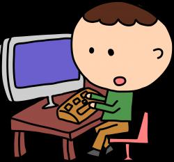 Person On Computer Clipart - Clip Art. Net