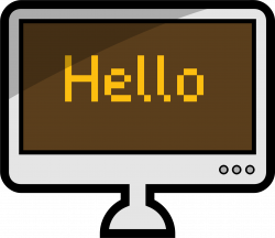 Clipart - Computer
