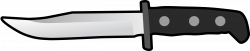 Clipart - Simple Flat Knife Side View