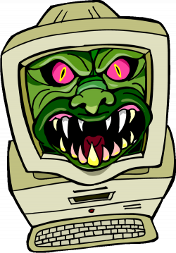 Virus computer clipart collection