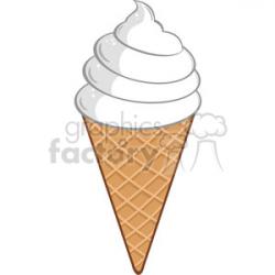 Royalty Free RF Clipart Illustration Ice Cream Cone clipart. Royalty-free  clipart # 395928