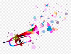 Quotation Music Trumpet - Confetti Trumpet Png Clipart ...