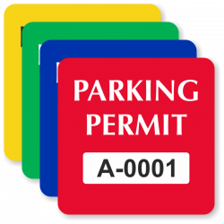 In-Stock Parking Decals – Order Prenumbered