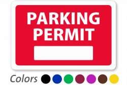 In-Stock Parking Decals – Order Prenumbered