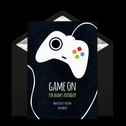 Free Game Controller Invitations | Pinterest | Birthday invitation ...