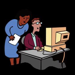 Computer Download Clip art - Take office computer man 1500*1501 ...