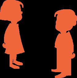 Boy Silhouette Orange Clip Art at Clker.com - vector clip art online ...