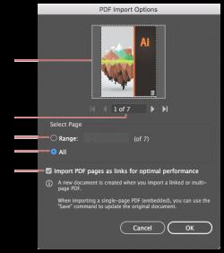 How to import Adobe PDF files in Illustrator