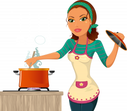 The Kitchen Cooking Chef Woman Clip art - We are cooking beauty 1000 ...