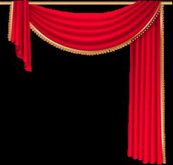 Red Curtain Transparent PNG Clip Art Image | PNG-jpg | Pinterest ...
