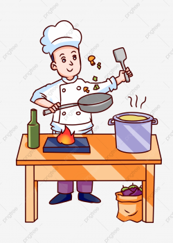 Food Cooking Chef Stir Fry, Illustration, Hand Painted, Food ...