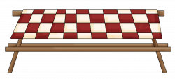 Picnic Table clipart cookout - Pencil and in color picnic table ...