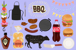BBQ Cookout Clip Art Graphics By Dapper Dudell ...