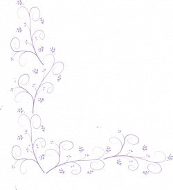 Purple Floral Corner Embellishment Clip Art at Clker.com - vector ...
