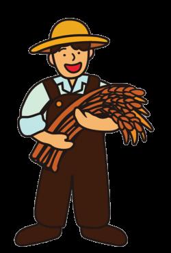 Cartoon Farmer Rice - The farmer with the wheat 657*970 transprent ...