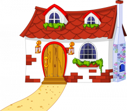 fairytale_town_#2.png | Pinterest | Clip art, Cottage art and House