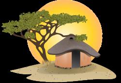 Cabin clipart village hut - Pencil and in color cabin clipart ...