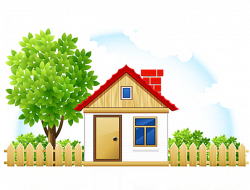 House Cartoon Drawing Cottage - House fence 655*500 transprent Png ...
