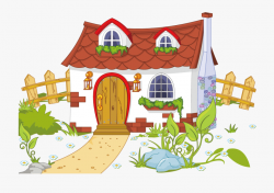 Content House And Cottage Fence Free Png Hq Clipart ...
