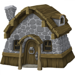 Rustic house from Glitch clipart, cliparts of Rustic house ...
