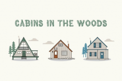 Rustic cabin clip art // outdoors - Clipart - Instant Download PNGs -  vector icons - tiny house illustrations - outdoors scrapbooking