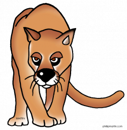 Panther clipart florida panther ~ Frames ~ Illustrations ~ HD images ...