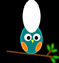 Blue And Orange Owl clip art - vector clip art online ...