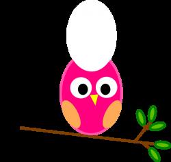 Cute Cartoon Owls | Pink Owl clip art - vector clip art online ...
