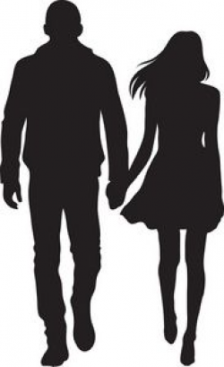 Man And Woman Silhouette Clip Art | Couple Clipart Image ...