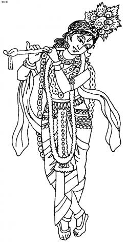 images of line drawing Krishna - Google Search | Lord Krishna ...