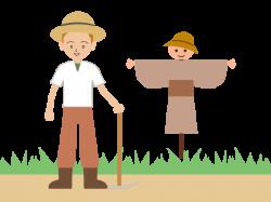 Farmer | Scarecrow | Agriculture - autumn illustration - free - clip art