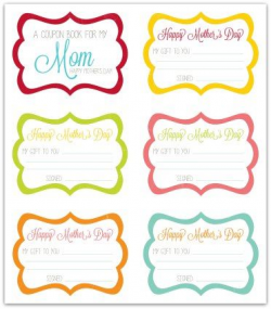 Free Mother's Day Coupon Book Printable | activity days ...