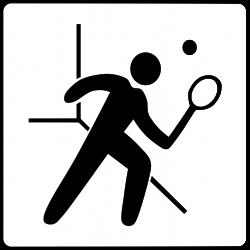 Clipart - Hotel Icon Has Squash Court
