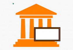 Courthouse Hot Orange Clip Art - Easy To Draw Government ...