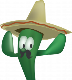 Clipart - Sombrero Cactus