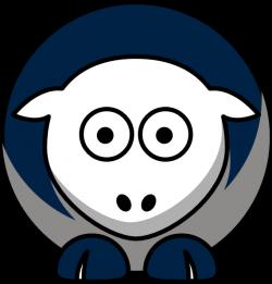 Sheep 3 Toned Dallas Cowboys Team Colors Clip Art at Clker.com ...