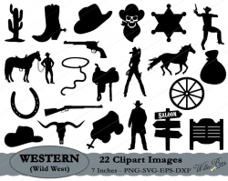 Wild West SVG, Western Clipart, Cowboy SVG, Cowgirl Svg, Sheriff Badge,  Horse And Saddle, Western SVG, Cowboy Hat, Saloon, Instant Download