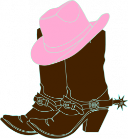 Cowgirl Boots And Pink Cowgirl Hat Clip Art at Clker.com - vector ...