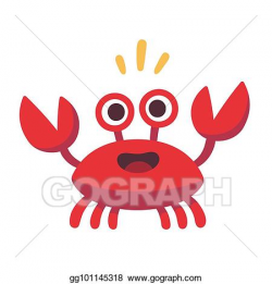 Vector Stock - Cute cartoon crab. Clipart Illustration ...