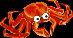 Clipart - cartoon crab 2
